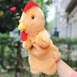 Wholesale Hot Sale Cock Hand Puppet Plush Puppets Cartoon Chicken Doll Baby Toys Brinquedo Marionetes Fantoche