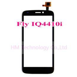Promotion quad lcd Vente en gros TP noir pour Fly IQ4410i 4410i Quad Phoenix 2 écran tactile numériseur verre Capteur LCD Téléphone Remplacer partie Livraison gratuite + Outils