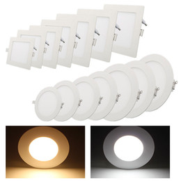Wholesale Super Thin Led No Dimmable LED Panel Light Recessed SMD2835 Downlight Driver W W W W W Round Squre V Lamp