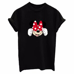 New 2017 Fashion Summer women's tops popular INS cartoon printed Casual O-neck loose plus size T-shirts black & white tees S-XXL