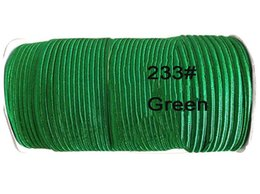 4mm Green Best Flat Nylon Cord+130m roll Jewelry Accessories Thread Macrame Rope Shamballa Bracelet Chinese knot Beading cords