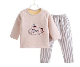 CARTOON AUTUMN WINTER THICKERN NEW ARRIVAL BABY PAJAMAS SET 10 STYLE CAN CHOICE 90-100-110-120CM 4PCS LOT WHOLESALE