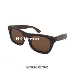 unisex brown polarized lens bamboo sunglasses