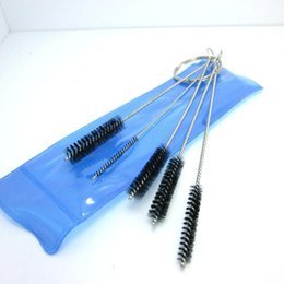 Mini water pipes of cleaning brush glass tube brush cleaning tools for smoking accessories with 5 pcs set