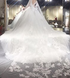 Wholesale Korean Ladies Images - A small tail Wedding dress New pattern Korean white fish tail Thin marry Lace Sexy lady