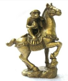 Wholesale decoration crafts Small Collectibles Brass Monkey Horse Statues Collectibles Brass