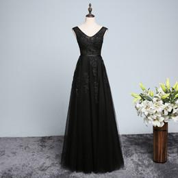 Beaded V Neck Lace Tulle Evening Dresses Long 2018 Elegant Evening Gowns Floor Length Prom Dresses