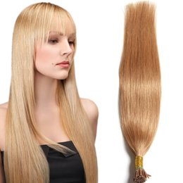 18-24 pouces pré-collé Je Conseil Extension de cheveux Huamn droit cheveux tisse 100 bâtons 50g Multi-couleur Indian Virgin cheveux extensions pour les femmes à partir de 18 pouces liaison droite fabricateur