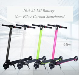 No Tax Upgrade Fiber Carbon Electric Scooter Foldable Shock Mitigation System Hoverboard Electric Skateboard Kick Scooter 35km