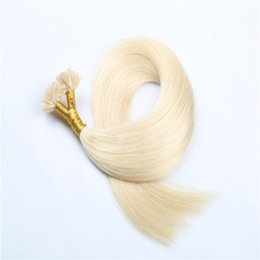 Best Quality Wholesale U tip Keratin Fusion Hair Extensions 50-100g Straight Blue Brazilian Indian Peruvian Remy Human Hair 16-26inch