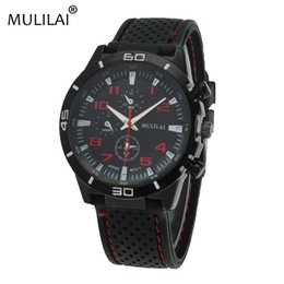 Mulila i new ORIGINAL fashion F1 racing car GT sports watch quartz luxury watch men and silicone belt military watch