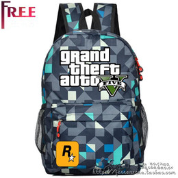 GTA5 surrounding bag luggage backpack GTA PC game Grand Theft Auto 5 PS3 games oxford Travel Backpack students youth schoolbag