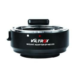 A7r sony en Línea-VILTROX EF-NEX III Adaptador electrónico de montaje en lentes de enfoque automático para Canon EF EF Lente para Sony E Montaje a7R II / a7S / a7R / a7II / NEX-7/6 Marco completo