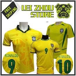 1993 1994 1998 Brazil home jerseys 2002 Brasil retro classic shirts Carlos Romario Ronaldo Ronaldinho Jersey camisa de futebol