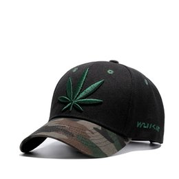 High quality Baseball Cap Unisex Sports leisure hats leaf embroidery sport cap for men and women hip hop hats