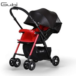 Wholesale Gubi baby stroller high landscape light folding umbrella car two way push shock can sit flat baby carriage