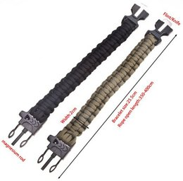 paracord survival bracelet Best sale Cheap Super quality bracelet with fire stick cutting knife and whistle,hand bracelet