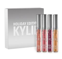 Wholesale NEW Kylie Cosmetics HOLIDAY Edition Full Size pc Holiday Kit Matte Liquid Lipsticks Gloss DHL Christmas GIFT