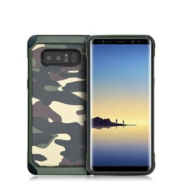 For Samsung Note 8 2 in 1 Army Camo Case Hybrid Rugged Shockproof Camoflage Phone Case TPU + PC Protective Back Cover For Samsung S8 S7edge