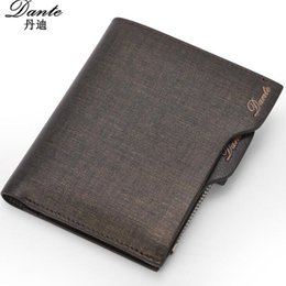 Wholesale South Korea Men S Fashion - South Korea purse brand authentic wholesale supply men 's wallet multi - functional creative zipper gold sand black brown Free Shipping By