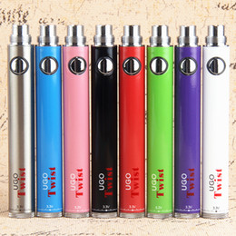 evod twist eGo ecig vape batteries Mirco USB EVOD Passthrough Variable Voltage ego c twist vape pen battery