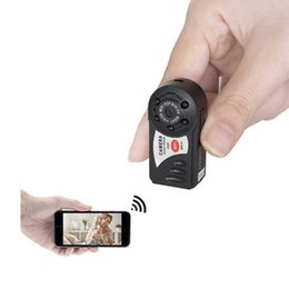 Acheter en ligne Mini vidéos pour caméras-Q7 Mini Wifi DVR Caméras cachées Caméscope IP sans fil Caméra vidéo Appareil photo infrarouge Night Vision Spy Camera 30pcs / lot DHL gratuite
