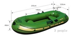 Wholesale 3 people thickening inflatable boat rubber boat fishing kayak separate Air chamber boat pvc Hovercraft air cushion vessel