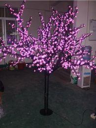 Цветковые деревья Онлайн-бесплатная доставка LED Вишневое дерево свет, 1248LEDs, розовый СИД с цветами вишни светодиодные елки свет LLFA