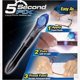 Wholesale 5 Second Fix Liquid Plastic Welding Pen UV Light Repair Cure Tools AU Liquid Glass Welding Glue Gifts With Retail Package CCA5307