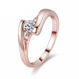 High Quality Fashion Vintage Wedding CZ Diamond Rings For Women Silver   Rose Gold Colors Female Ring Jewelry Anel Feminino Anillos J045
