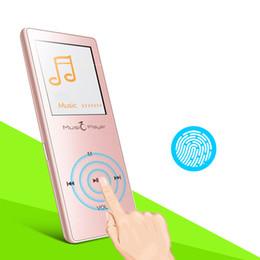Acheter en ligne 8gb tactile-Vente en gros - Touche tactile Ultrathin HIFI Son sans perte Bluetooth mp3 Lecteur de musique 1,8 pouces FM Enregistrement vocal Podomètre Multimédia Audio Player
