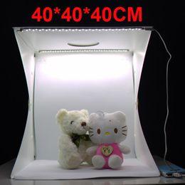 2017 photo boîte de tente NOUVEAU Photo Studio Flash Diffuseurs Portable Mini Photo Kit Light Box Softbox Photographique avec des fonds 40 * 40 * 40CM photo lumière tente photo boîte de tente offres