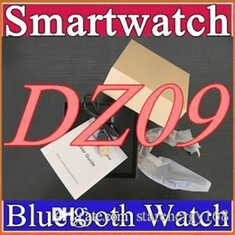 Wholesale 30X Smartwatch Latest DZ09 Bluetooth Smart Watch With SIM Card For Samsung IOS Android Cell phone inch Free DHL smartwatches B BS