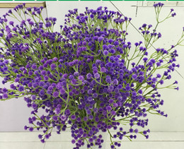 wedding flower babysbreath artificial flower bridal hand bouquet home decoration lucky flower