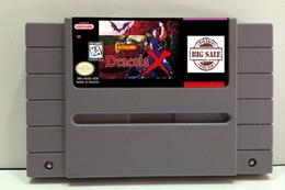 Wholesale Mix order Classic super nes game USA CANADA NTSC version Castlevania Dracula X