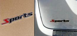 Wholesale 3D Word Sports Letter Chrome Metal Car Sticker Emblem Badge Decal Auto Decoration Sticker