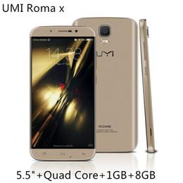 Promotion pouces 1gb UMI ROME X 5,5 pouces IPS 1280 * 720 HD 3G WCDMA Quad Core MTK6580 1,3 GHz 1 Go 8 Go Android 5.1 13.0MP Appareil photo WiFi Smartphone Livraison gratuite