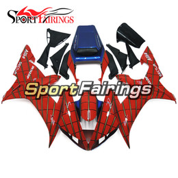 Injection Full Fairings For Yamaha YZF 1000 R1 YZF-R1 02 03 2002 2003 ABS Motorcycle Fairing Kit Body kit Motorbike Cowling Spider Red Cover