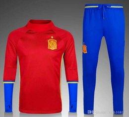 Acheter en ligne Services de l'équipe-Personnalisation de vêtements en gros 16-17 national espagnol équipe de football jersey jogging pantalon Espagne national équipe de football service de formation qua