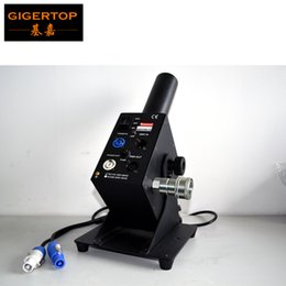 Wholesale New Arrival Sample Adjustable Angle Degree Co2 Jet Machine With Meter CRYOGENIC Hose DMX CO2 Jet For Stage New Black Gas Valve