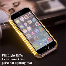 Unique LED Light Cell Phone Cases Multi Colors Automatic Luminous Phone Covers with High Quality PC for iphone 7 7 Plus 6S 5S