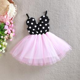 Vêtements pour bébé Vêtements Mickey Dot Robe Enfants Printemps Robes pour Enfants Vêtements Summer Cotton Sling Dress v87 à partir de robe princesse fronde fabricateur