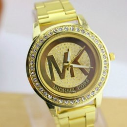 Wholesale MK Michael Kores style wristwatches top luxury replicas M K bracelets Fashion Quartz watches Brand new watch jewelry for men women girls M03