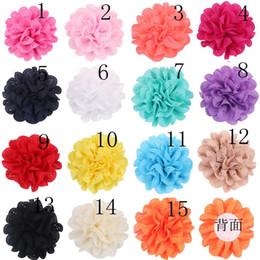 30 couleur fille couleur rose fleur épingle à cheveux Barrettes 7CM  accessoires pour cheveux de dessin animé princesse Layered Bow Hair clips  les cheveux