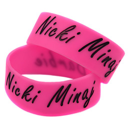 50PCS Lot Nicki Minaj 1 Inch Wide Silicone Wristband Bracelet Great To Used In Any Benefits Gift For Music Fans