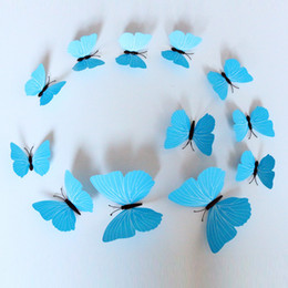 Novelty Items simulation butterfly home decoration Crafts wall stickers Simulated Butterfly 12 sets Butterfly Stickers free shipping