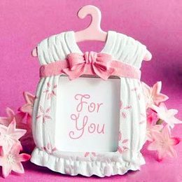 Fast Delivery Factory directly sale Wedding Favor Baby Shower Cute Baby Themed Photo Frame Favors-girl Wholesale