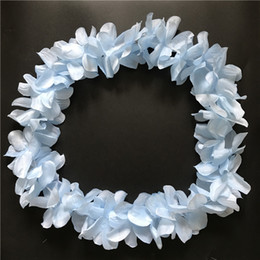 Blue Hawaiian Hula Leis Garland Necklace Flowers Wreaths Artificial Garden Festive Party Suppliers Flowers 100pcs lot