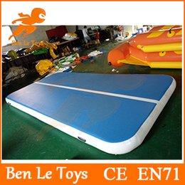Wholesale Hot selling cm thickness DWF x2m blue and white inflatable air track gymnastics for kids IAT