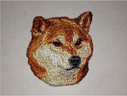 4.7*7.3cm Craft Inu Canine Dog Breed Portrait Embroidery Patch Iron On Patches On Jackets Fabric Clothes